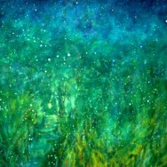 "Green Splash CI $ 1000.00         20"" x 36 "" Mixed Media On Canvass"