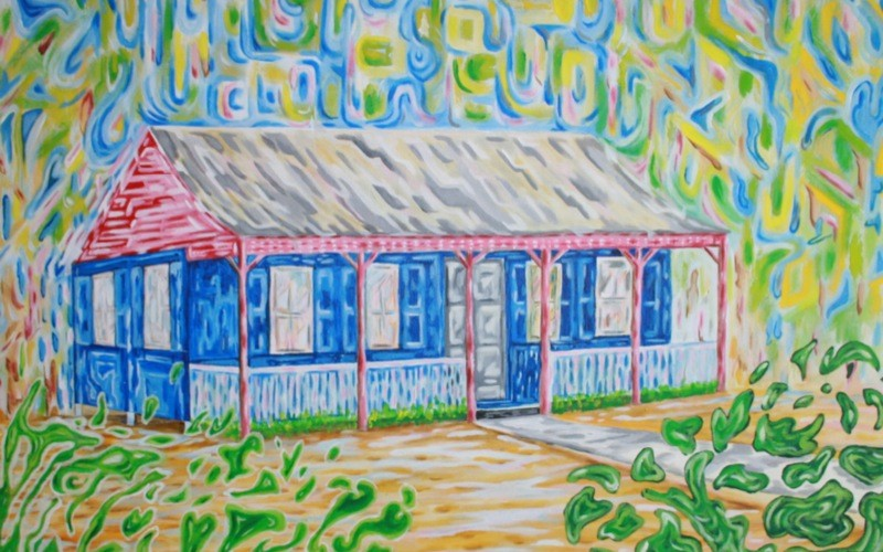 Cayman Cottage 2 - 36x24 print on Canvas, Limited Edition, CI $ 800.00