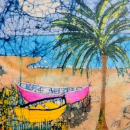 Boat On the Beach 11x14 Giclee on Canvas