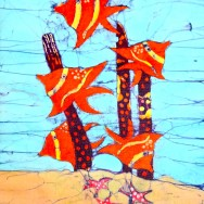 Orange Reef Fish 11x14 Giclee on Canvas