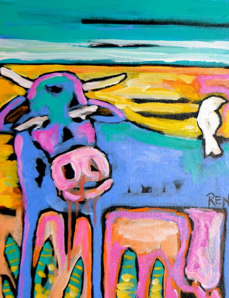 Agnes By the sea 2 18x14 Acrylic On Canvas
