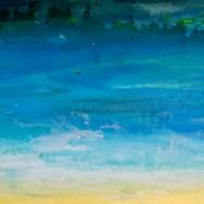 Barker's Beach II  15x60 Acrylic On Canvas