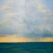 Summer Skies Over 7 Mile Beach 40x30 Limited Edition Giclee on Canvas