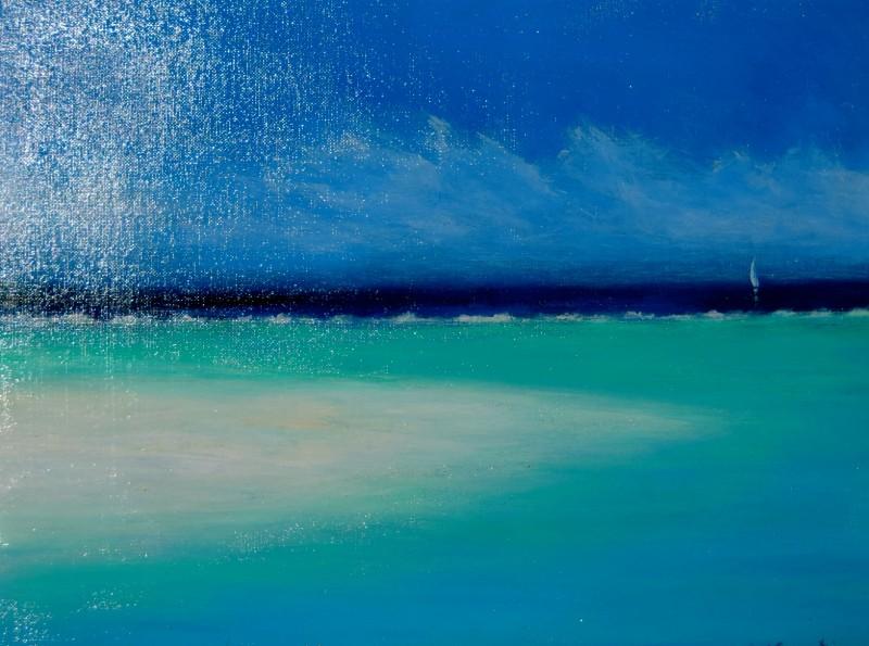 Point Of Sand, Little Cayman  14x18 Acrylic on Canvas