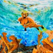 Cemetary Reef 12x16 Acrylic On Canvas